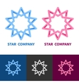 Impossible Geometric Star Logo Set Colored Black vector image vector image