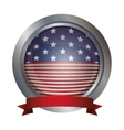 Isolated Usa flag inside button design vector image
