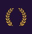 laurel wreath award branch victory icon vector image vector image