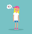 low battery conceptual young exhausted blond vector image vector image
