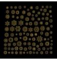 Mandala golden art vector image