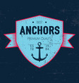 maritime label poster vector image vector image