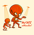 mars attacks vector image