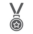medal glyph icon trophy and award best student vector image vector image
