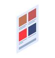menu web page icon isometric style vector image