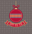 new year card holiday ornament vector image vector image
