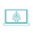 online doctor laptop respiratory disease vector image vector image