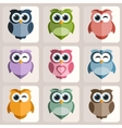 Owls stickers vector image vector image