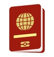 Passport icon flat style vector image