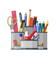 pen holder office equipment vector image vector image