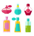 perfumes in bottles collection vector image