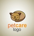 pet care logo 9 vector image