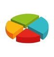 pie statistics graphic isolated icon vector image vector image