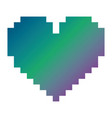 pixelated heart love romantic icon vector image vector image