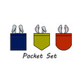 pocket set with rabbit ears vector image vector image