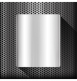 Polished steel texture on hold metal abstract vector image vector image