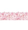 Poppy flowers line art horizontal seamless pattern vector image vector image