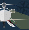 private jet open gangway red carpet rose vector image