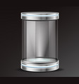 product exhibit glass container realistic vector image