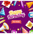 realistic detailed 3d happy birthday placard vector image vector image