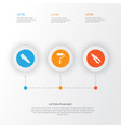 repair icons set collection of clamp cutter vector image