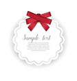 romantic event invitation with ribbon bow vector image