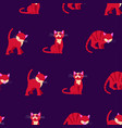 seamless pattern with colorfuls crazy cats vector image vector image