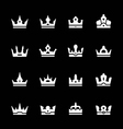 Set icons of crown vector image vector image