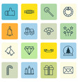 set of 16 celebration icons includes ringer vector image vector image