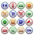 Set pictograms supermarket services vector image vector image