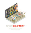 sport equipment isometric composition vector image vector image