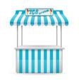 street food stall ice cream vector image vector image