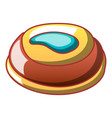 sweet creme biscuit icon cartoon style vector image vector image