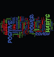 the power of positive habits review good or bad vector image vector image