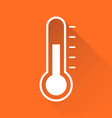 thermometer icon goal flat isolated on orange vector image vector image