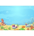 Underwater world blue sea starfish vector image vector image