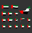united arab emirates flag icons set national flag vector image vector image