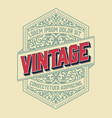vintage frame for logo label design vector image