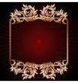 Vintage golden floral frame vector image vector image