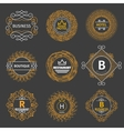Vintage logos for hotel restaurant vector image