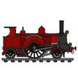 vintage red steam locomotive vector image