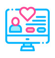 volunteers support website thin line icon vector image