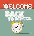 Welcome Back to School Retro vector image vector image