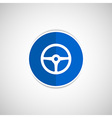 wheel icon steering car circle vehicle vector image vector image
