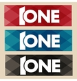 Word and number one First template icon vector image vector image