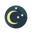 Flat Design Concept East Moon with Stars Wit vector image