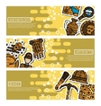 Set of Horizontal Banners about archeology vector image