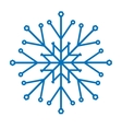 Snowflake isolated vector image