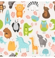 Animal background vector image