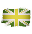 Green british flag vector image